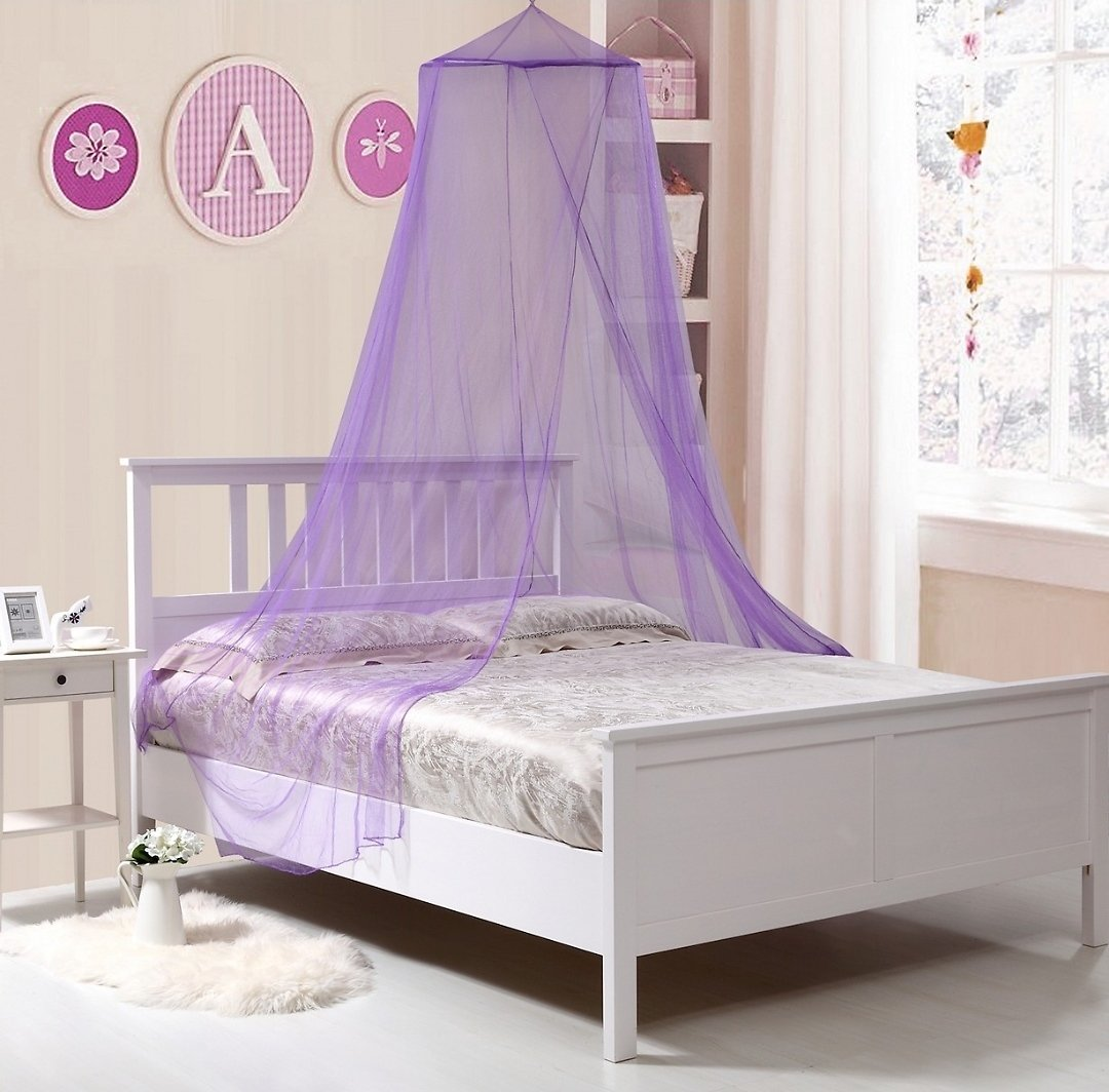 Epoch Hometex Inc Kids Collapsible Wire Hoop Mosquito Net Bed Canopy (3 Colors)