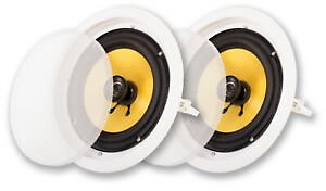 Acoustic Audio HD-8 Flush Mount In Ceiling Speakers with 8
