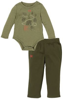 Under Armour Trail Map Long-Sleeve Bodysuit and Pants Set for Babies | Bass Pro Shops