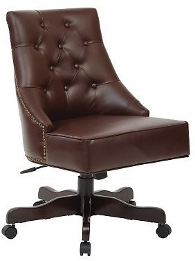 OSP Home Furnishings Rebecca Tufted Back Office Chair in Bonded Leather with Nailhead Accents Assorted Colors - Sam's Club