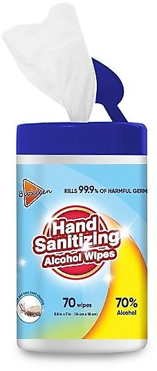 Alcohol Wipes, 70 Wipes