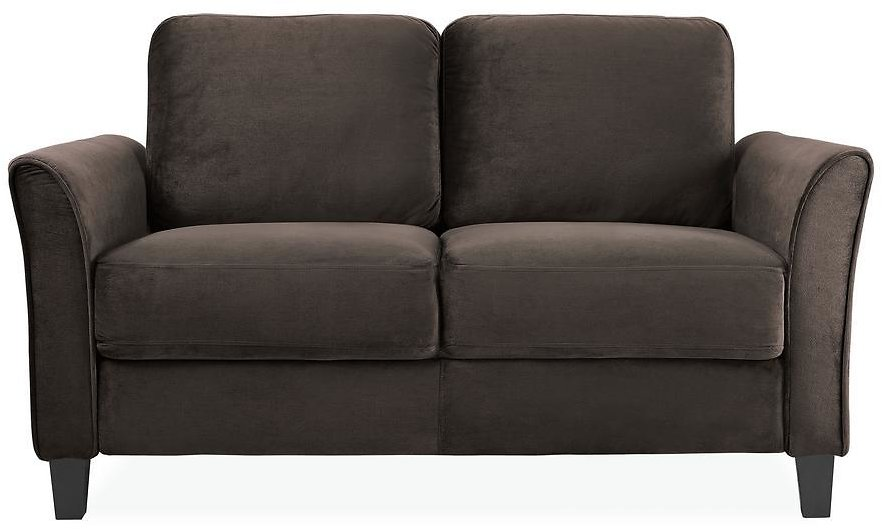 Lifestyle Solutions Wesley 31.5 In. Coffee Microfiber 2-Seater Loveseat