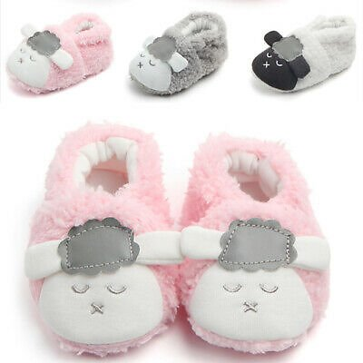 Baby Shoes Cute Infant Toddler Moccasin Booties Sneakers Warm Coral Fleece