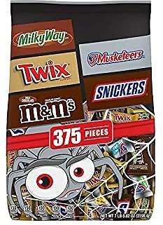 Chocolate Favorites Halloween Candy Bars Variety Mix Bag (7 lbs 0.82oz) 375 Pieces