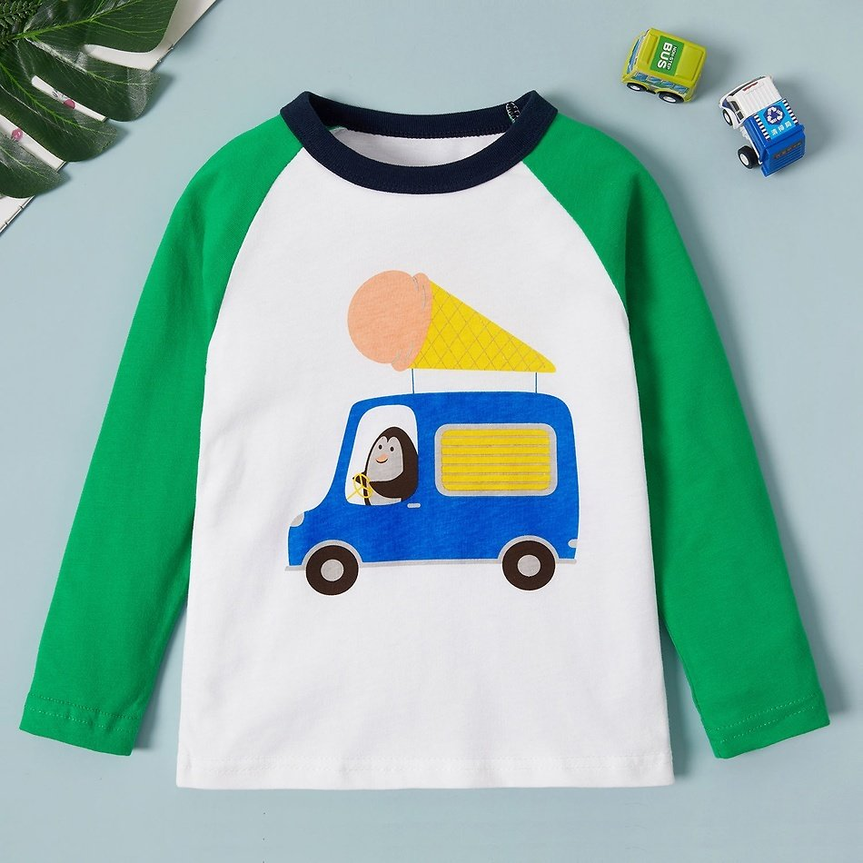 Baby / Toddler Boy Cartoon Car Print Long-sleeve Tee