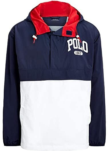 Color-Blocked Graphic Pullover