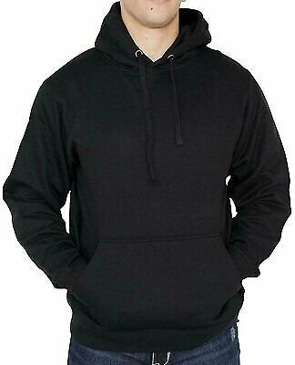 Men's Fleece Hoodie Sweatshirt Premium Quality Cotton Heavyweight Pullover NEW