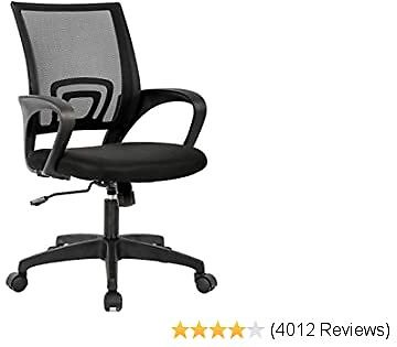 Home Office Best Chair Ergonomic Desk Chair Mesh Computer Chair with Lumbar Support Armrest Executive Rolling Swivel Adjustable