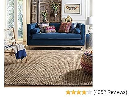 Safavieh Natural Fiber Collection NF447A Hand-Woven 0.5-inch Thick Chunky Textured Jute Area Rug, 8' X 10'
