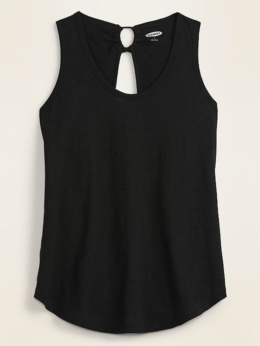 Slub-Knit Tie-Back Tank Top for Women