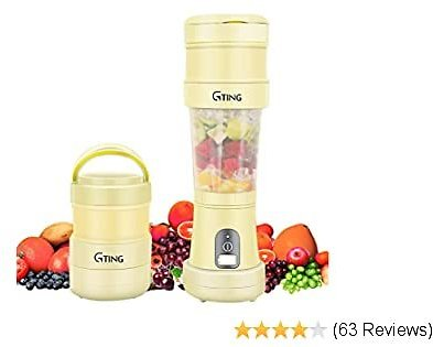 Portable Blender, G-TING Collapsible Personal Smoothies Blender Cordless, Single Serve Mini Blender 500ml USB Rechargeable Small Juice Mixer Portable Juicer Shakes, Smoothies, Home, Travel & Gym