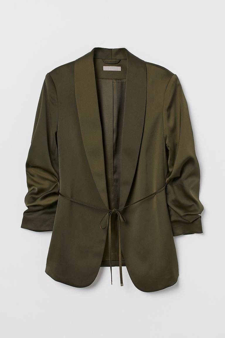 Jacket with Gathered Sleeves