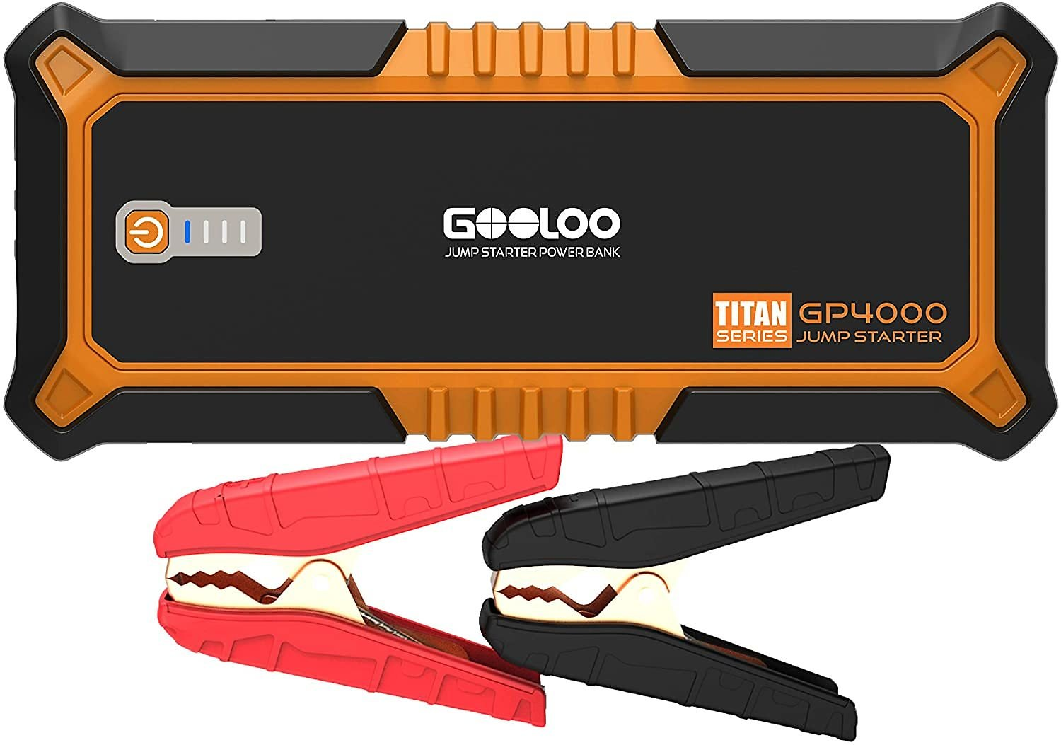 GOOLOO 4000A Peak SuperSafe Car Jump Starter (All Gas, up to 10.0L Diesel Engine) 12V Auto Battery Jumper Booster