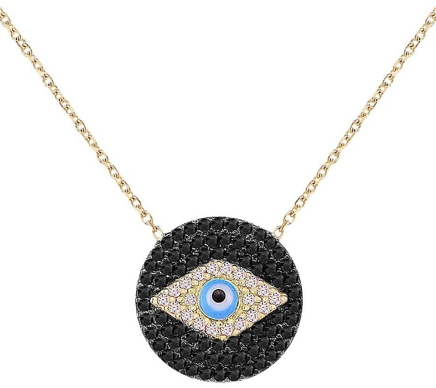 Love and Protection 14K Yellow Gold Vermeil & Cubic Zirconia Evil Eye Pendant Necklace