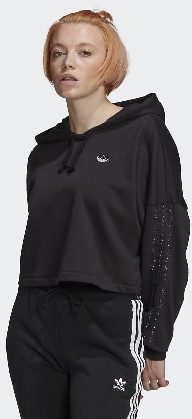 9% OFF | Adidas Fakten Cropped Hoodie - Black | Adidas US