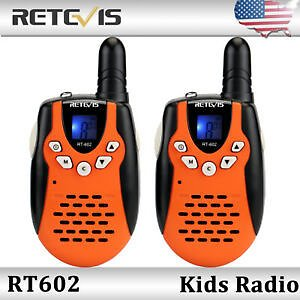 Kids Gift Retevis RT602 22CH Walkie Talkies UHF 0.5W Flashlight VOX 2-Way Radio