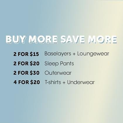 Buy More Save More On Tees, Base Layer, Underwear & More