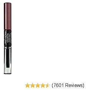 Revlon ColorStay Overtime Lipcolor, Dual Ended Longwearing Liquid Lipstick with Clear Lip Gloss, with Vitamin E in Plum / Berry, Always Siena (380), 0.07 Oz