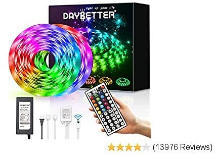 30% OFF ON: DAYBETTER Led Strip Lights 32.8ft Waterproof Flexible Tape Lights Color Changing