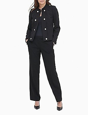 65% OFF Double Breasted Zip Cuff Jacket | Calvin Klein