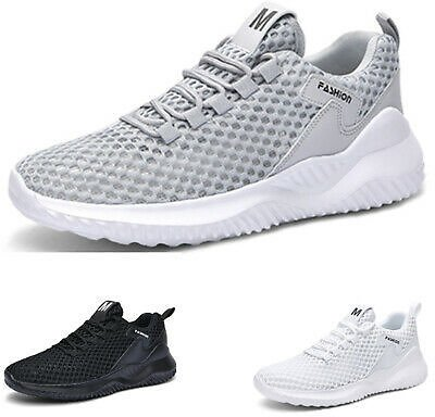 Mens Trainers Sports Shoes Athletic Mesh Memory Foam Casual Sneakers Gym Running
