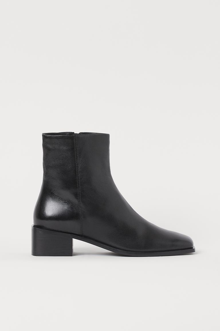 Leather Boots - Black - Ladies | H&M US