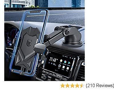 Car Phone Mount, Long Neck Dash & Windshield Phone Holder for Car Compatible with Phone 11/11 Pro/SE/X/XR/XS/8 Plus Galaxy S20 Ultra S10 S10e and More