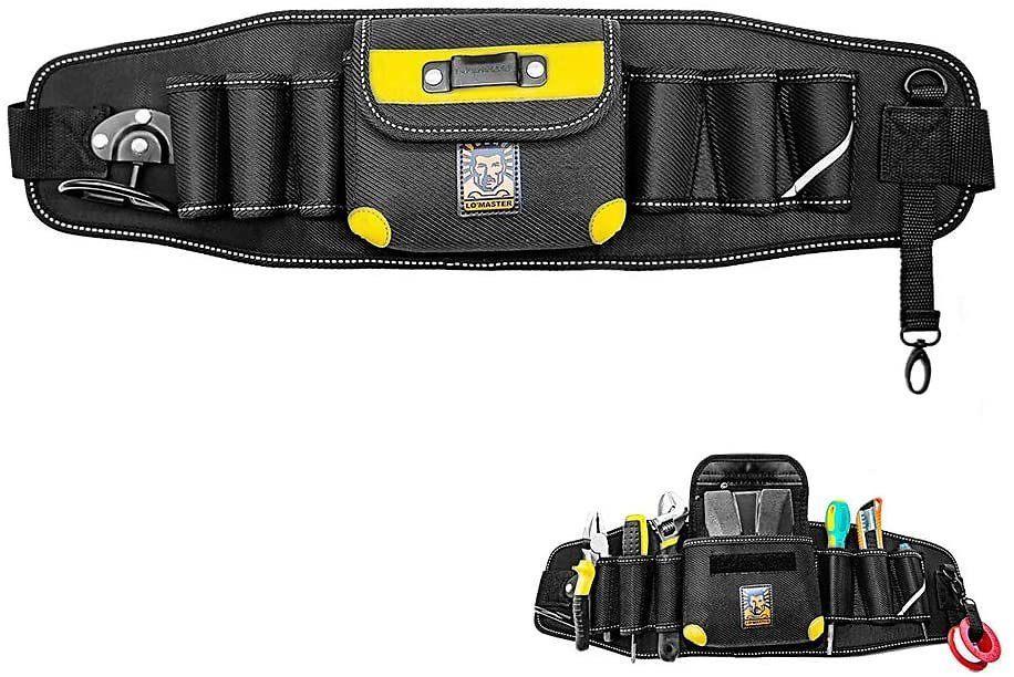 LO'MASTER Heavy Duty Tool Belts for Men,Multi-pocket Electrician Tool Bag Is Made of Oxford Cloth, Suitable for Electrician Technician Car Mechanic (Ordinary Paragraph)
