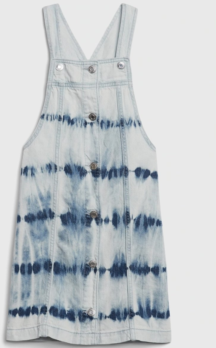 GAP Girls' Denim Tie-Dye Skirtall