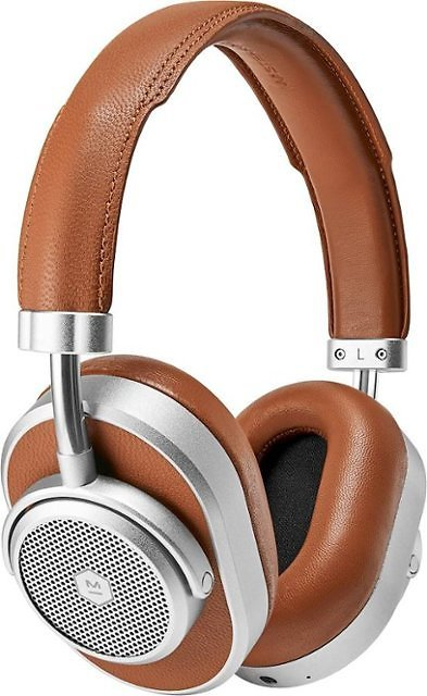 Master & Dynamic MW65 Wireless Noise Cancelling Over-the-Ear Headphones Silver Metal/Brown Leather MW65S2
