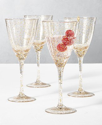 The Cellar Holiday Sayings Glitter Drinkware, Set of 4 & Reviews - Glassware & Drinkware - Dining