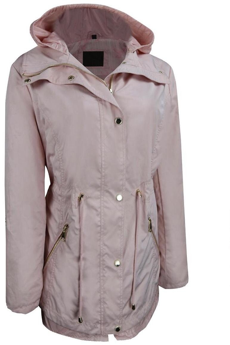 Plus Size Marc New York Cinched Waist Hooded Jacket