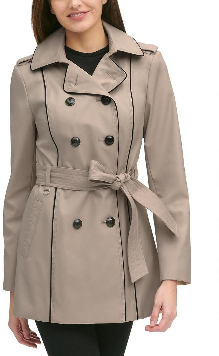 Plus Size Bonded Trench Coat