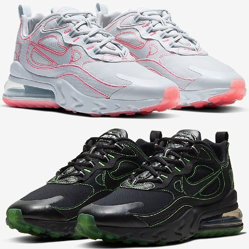 Air Max 270 Glow-in-the Dark Unisex Shoes (2 Colors)