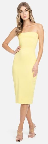 Strapless Tube Midi Luxe Dress