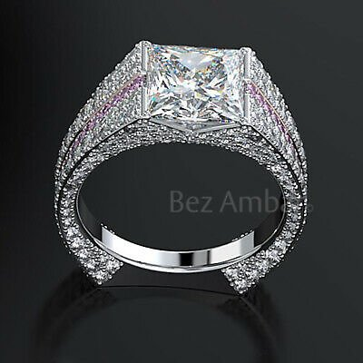 Elegant 925 Silver Rings for Women White Sapphire Wedding Jewelry Size 6-10