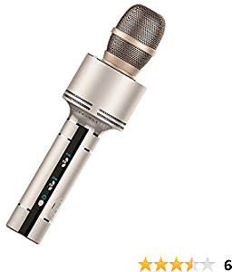 CBINHUANG Wireless Karaoke Microphone Mini Amplifier Handheld Bluetooth Condenser Microphone and Speaker for Home KTV CBH-i9