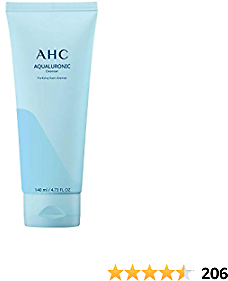 Aesthetic Hydration Cosmetics AHC Facial Cleanser Aqualuronic for Dehydrated Skin Triple Hyaluronic Acid Korean Skincare 4.73 Oz