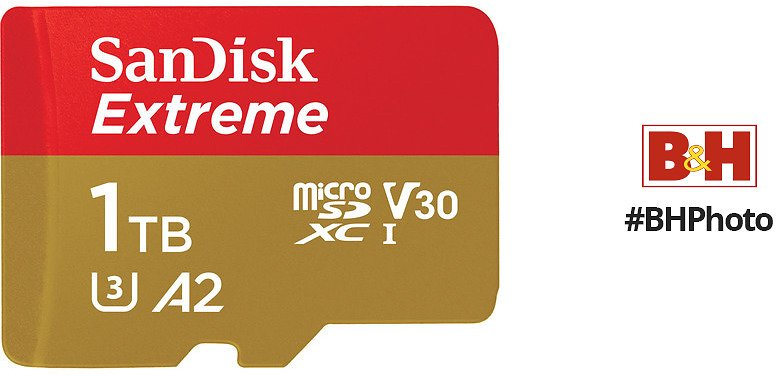SanDisk 1TB Extreme UHS-I MicroSDXC Memory Card with SD Adapter