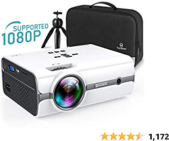 VANKYO Leisure 410 [2020 Upgrade] Mini Projector with TV Stick & 1080P Supported, Portable Projector with IOS/Android Connection, HDMI, PS4, VGA, USB for Home Entertainment & Outdoor Activities