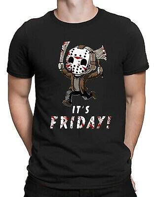 Jason Voorhees It's Friday Funny Men's T-shirt Friday The 13th Horror Movie Tee