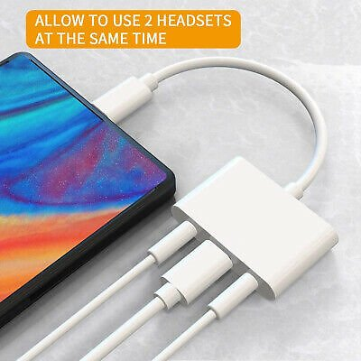 USB C 3.5mm Headphone Jack Adapter Type C Charger Cable for IPad Pro Huawei P20