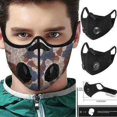 Activated Carbon PM2.5 Outdoor Mouth Mask Unisex Face Mask Protection Mask