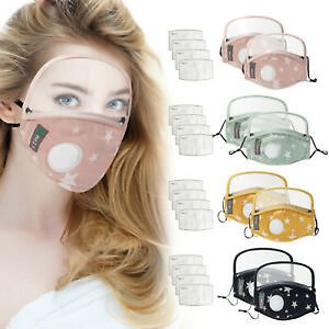 Cotton Windproof Outdoor Face Protective Face Mask with Eyes Shield +4 Filters