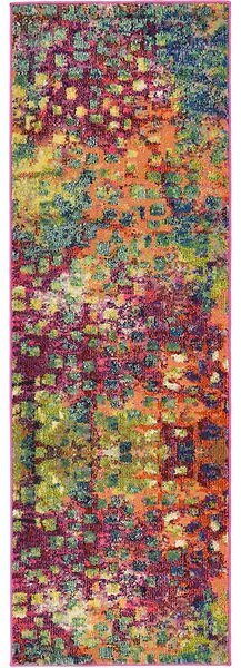 Abstract Yellow/Pink Area Rug