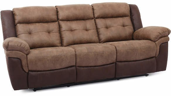 Mesa Brown Faux Leather Motion Reclining Sofa