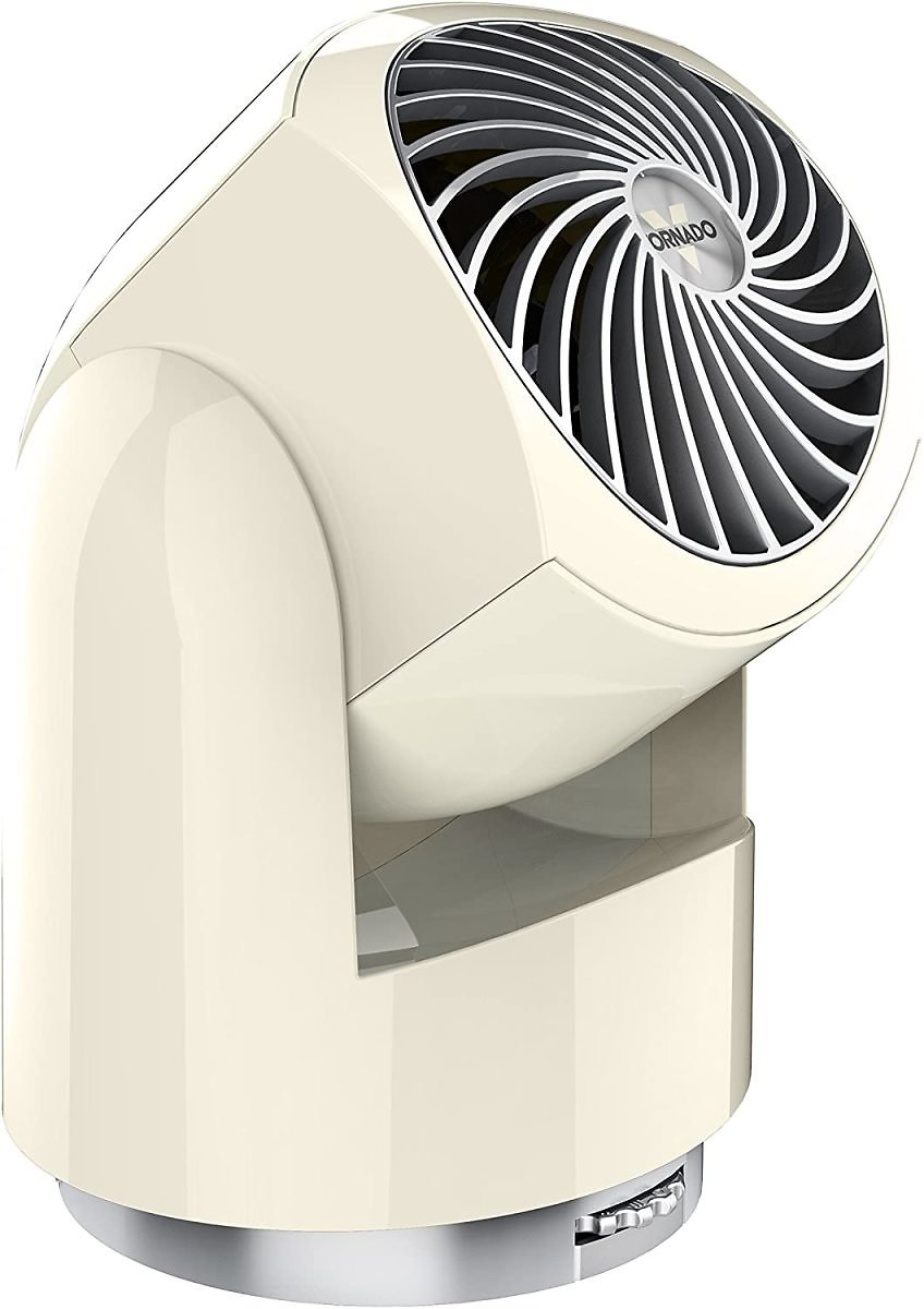 Vornado Flippi V10 Compact Oscillating Air Circulator Fan, Vintage White