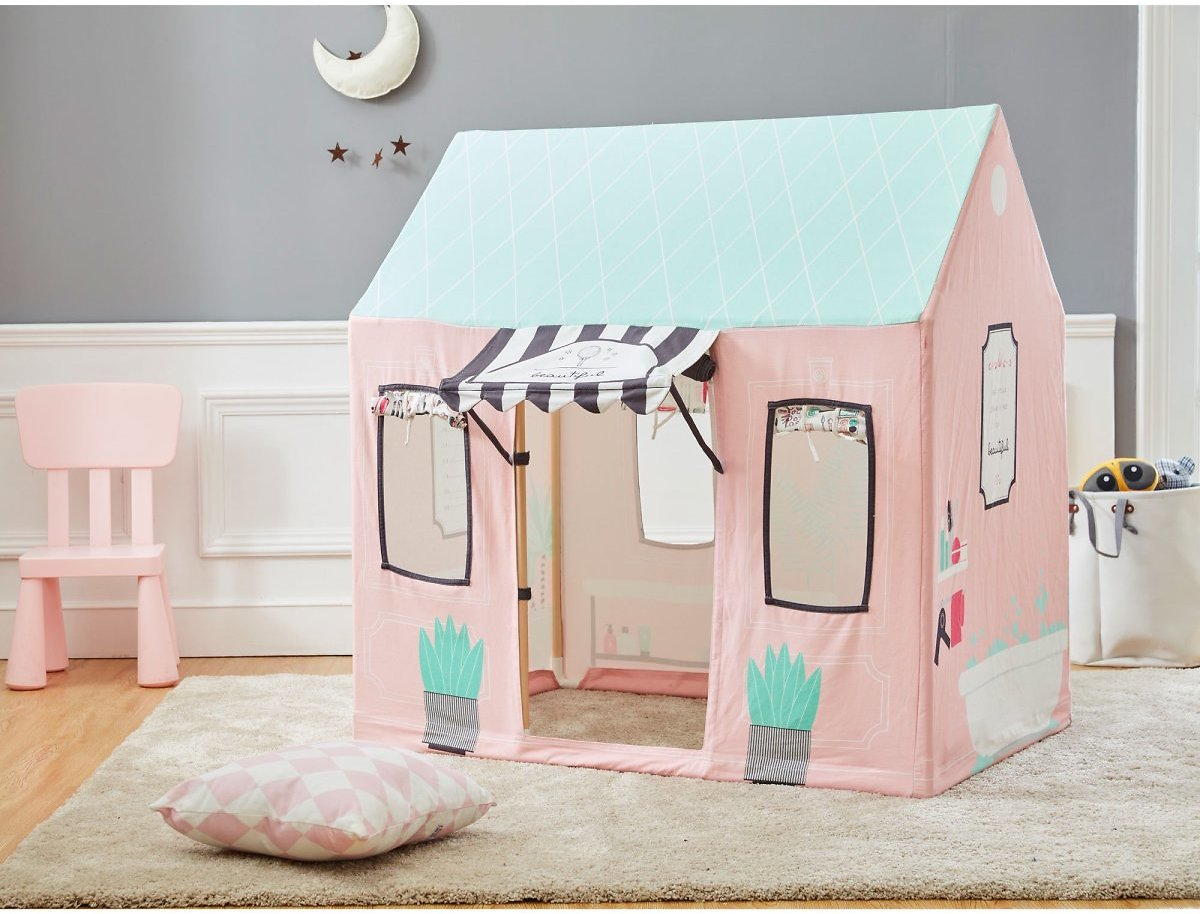 Asweets Indoor 32x44x45 Inch Childrens Kids Beauty Salon Pretend Play House Tent