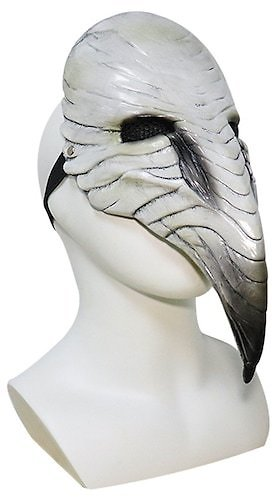Halloween ChristmasMasquerade Party Cosplay Gift Plague Doctor Steampunk Bird Mask Cosplay LED Lights Scary Latex Masks Props Toys for Kids Adult