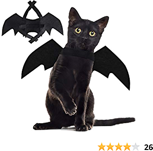 40% OFF D-FantiX Halloween Cat Bat Wings Costume, 2Pack Pet Bat Wing Decorations for Pet Dog Puppy Kitty Halloween Party
